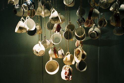 hanging tea cups
