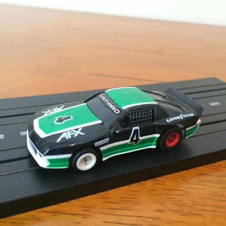 Vintage Aurora AFX Camaro #4 Green & Black HO Slot Car ~ Works! #Aurora