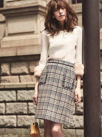 Arpege story | Apuweiser-riche | ポケット刺繍スカート(27432810)