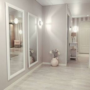 Great entryway with the mirrors for the illusion of a larger space