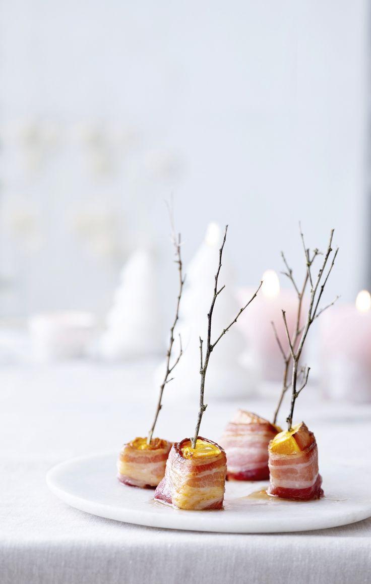 Geglazuurde pompoen-baconsnoepjes - Libelle Lekker