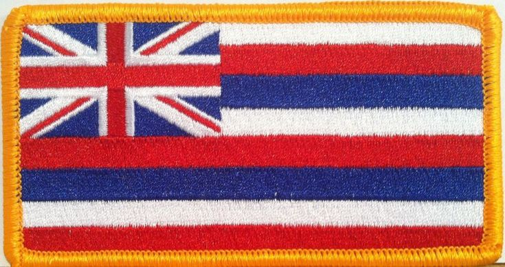 HAWAII Flag Patch with VELCRO® brand fastener Military Tactical Emblem #1
