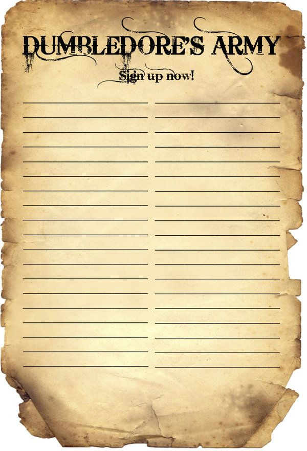 Dumbledore S Army Sign Up By Lucky4804 Harry Potter