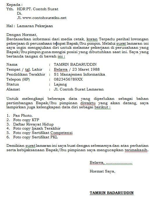 Contoh Surat Pribadi Anak Kelas 3 Sd