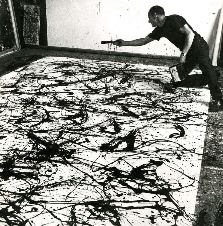 Pollock+at+Work,+1950.jpg (1574×1600)