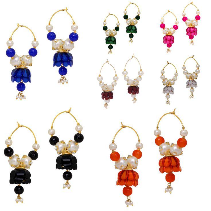 Gold Plated 150.00 Grams Multicolor Earrings Pair Of 7 Jewellery, online-muoti korut, tukku muoti korut, online intialainen korut, tukkupuku korut, online-korut ostokset, online-korumyymälät, osta online-korut, halvat pukukorut, online keinotekoiset korut, tekokukut online-ostoksia, korvakorut verkossa, tukku muotiasusteet, intialaiset muoti korut, halvat muoti korut, naisten korut, verkkokaupoissa korut, muoti korut myymälät, puku korut tukku, korut verkkokaupoissa, online-muoti korut…