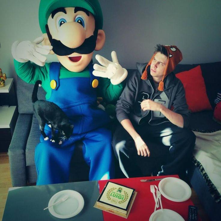 Ruben con Luigi *o*/