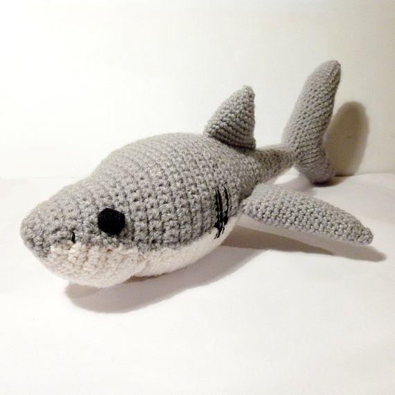 Amigurumi Shark, crocheted, crochet, stuffed animal, plush, amigurumi animal, shark, sea animal, crocheted shark, shark plush, plushie