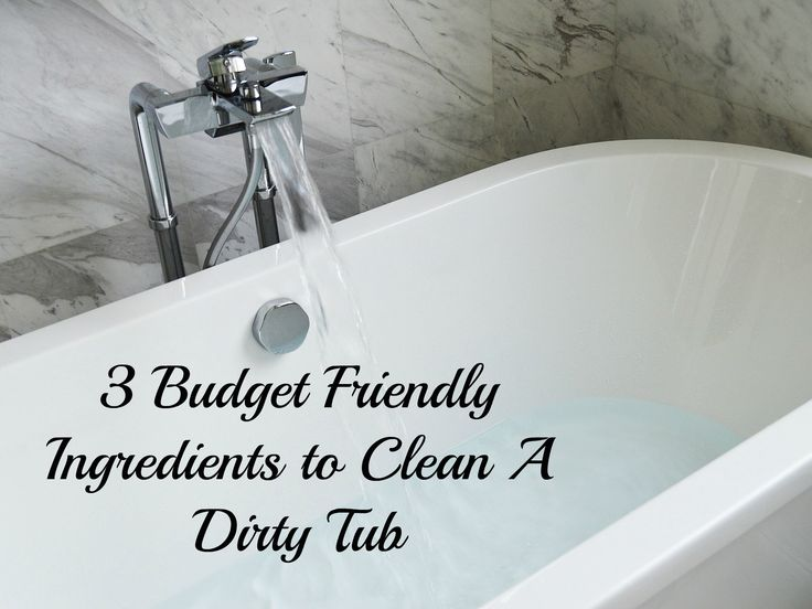 For those of us who are tight on a budget, or dislike heavy chemical products. Try out these few ingredients to get your tub squeaky clean.