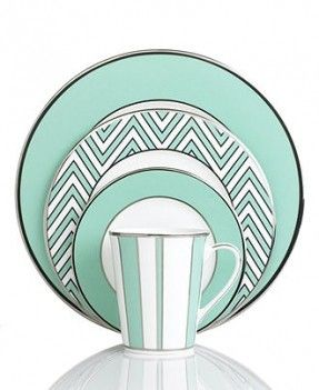 OMG not going to lie...I WANT THESE!!!! nate wont like them. but I LOVE THEM!!!! Mikasa dinnerware. color studio turquoise collection. love its modern/clean/graphic-ness