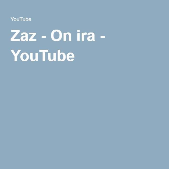 Zaz - On ira - YouTube
