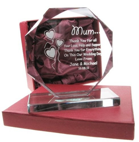 Mother of the Groom Gift, Engraved Presentation Cut Glass Gift, Mother of the Groom Gifts:Amazon:Kitchen & Home