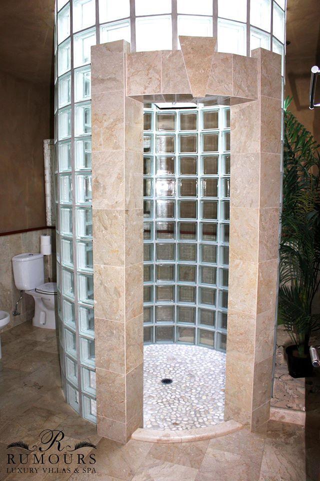 Amazing shower in your luxury private villa at Rumours Luxury Villas & Spa - Rarotonga! #rumoursluxuryvillas #cookislands