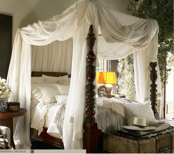 Dreamy four-poster bed
