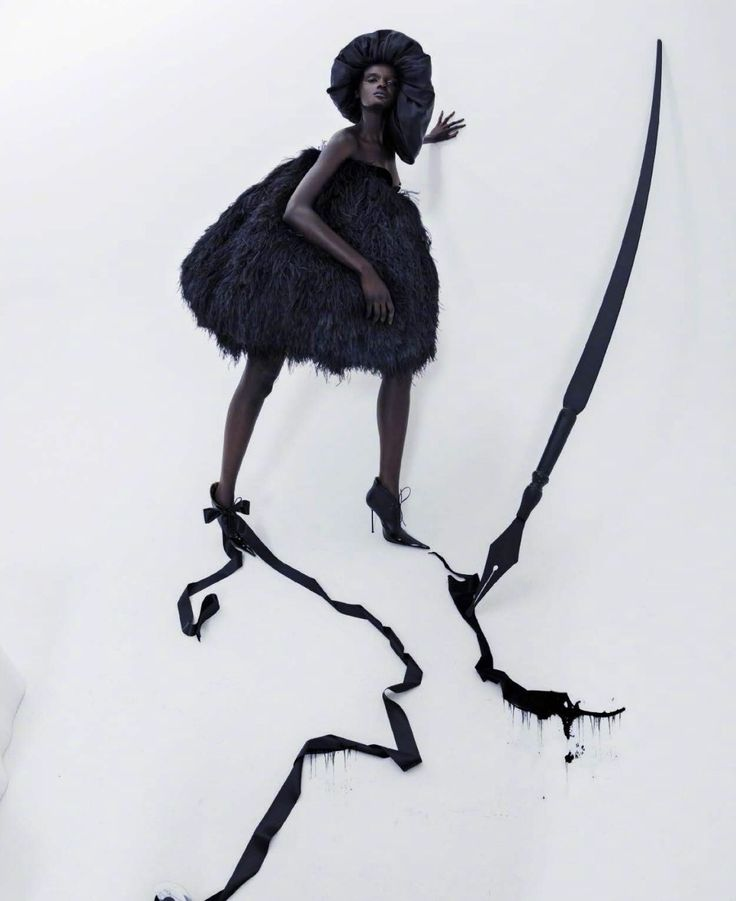'Spirits Within' Nyadak 'Duckie' Thot by Tim Walker for VOGUE Italia February 2018.