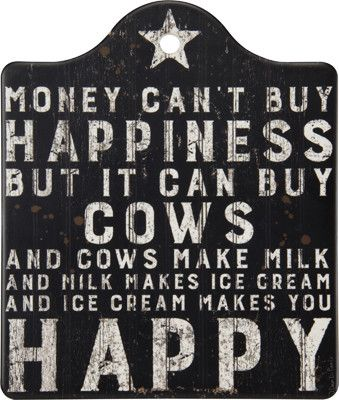"Our Happiness and Cows Trivet is the perfect addition to a sweet farmhouse kitchen! Pair with our other ""Happiness"" items for a full set! SIZE: 6.50"" x 7.63"" Stone"