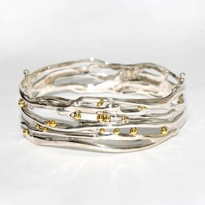 Handmade silver jewellery, perfect gift, unique jewellery, worldwide shipping Fabulous hinged organic bangle on Etsy, £200.00
