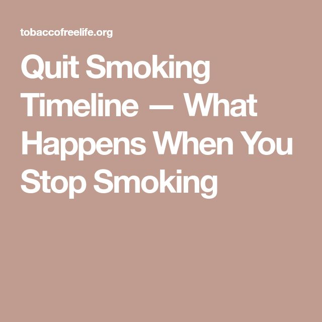 Quit Smoking Timeline — What Happens When You Stop Smoking