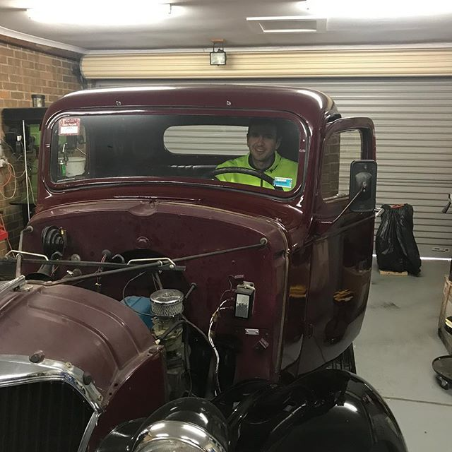 Mat's pretty chuffed with this '37 Chev pickup. It's running smooth as silk now. #chevrolet #pickup #elitestreetclassics #everythingisimportant