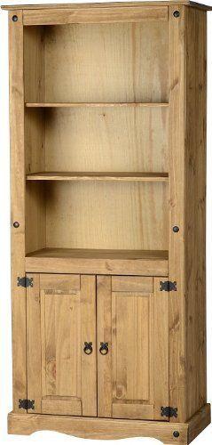 Large Wooden Bookcase Bedroom Solid Pine Antique Bookshelf DVD Rack Storage Unit