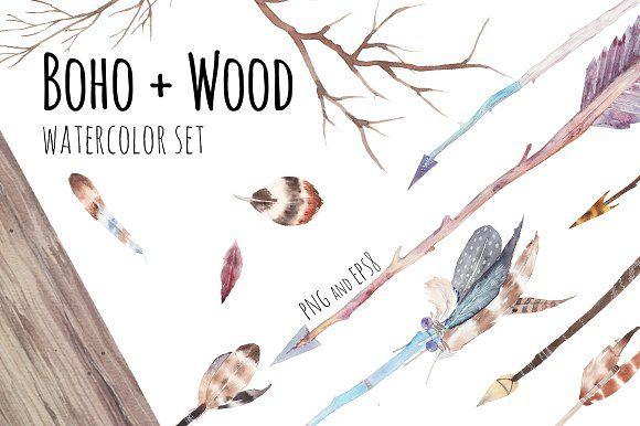 Boho + wood by Eisfrei on @creativemarket