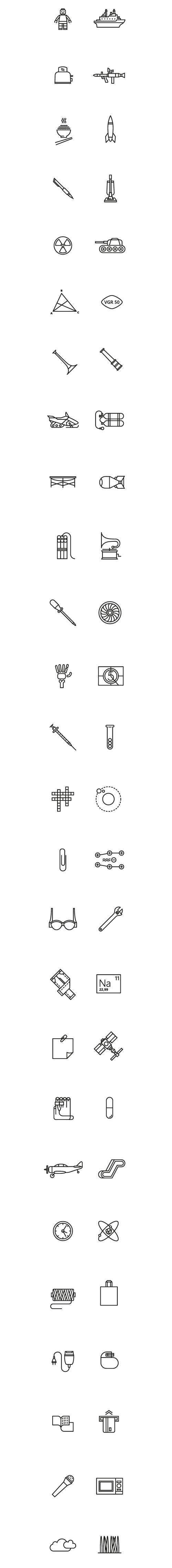 Pictograms for Esquire Russia by Ooli Mos, via Behance