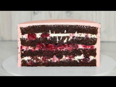 (529) Торт ЧЕРНЫЙ ЛЕС ☆ ТОРТ Шварцвальд ☆ Вишня-Шоколад - YouTube