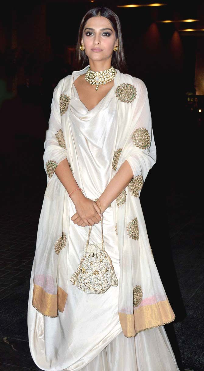 Sonam Kapoor at Masaba Gupta, Madhu Mantena's wedding reception.