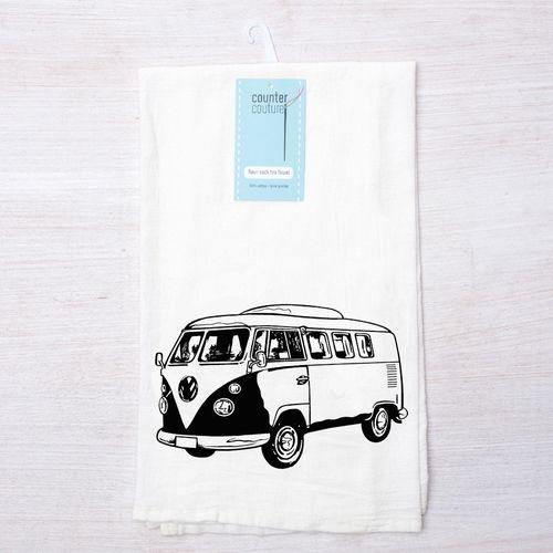 Retro Bus Flour Sack Towel