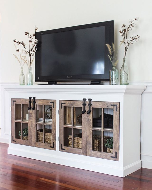 New Post All About This Farmhouse Media Cabinet Is On My Blog Today! This Is