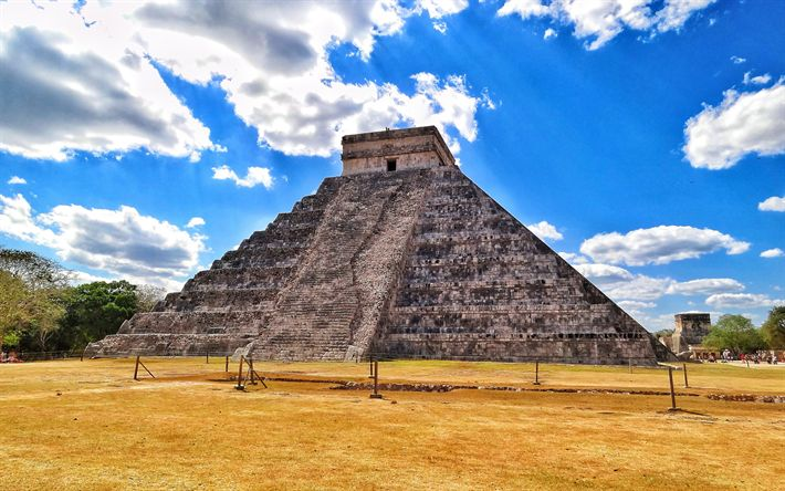 Download wallpapers Chichen Itza, 4k, mexican landmarks, Mayan, Mexico, South America