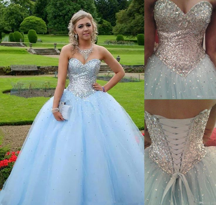Light Blue Prom Dress,Ball Gown Prom Dress,Princess Prom Gown,Beaded Prom Dresses,Sexy Evening Gowns,2016 New Fashion Evening Gown,Sexy Graduation Dress For Teens