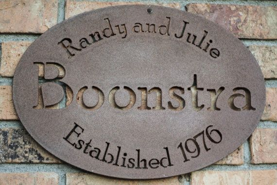 Custom Steel Family Name Sign Personalized by FultonMetalWorks