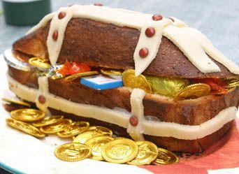 Gâteau coffre au trésor + recette