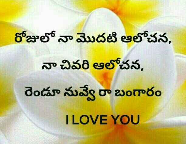 By Photo Congress    I Love You Quotes Telugu