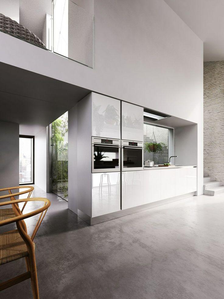 Cucina laccata in legno impiallacciato con isola VELVET PROFILE C - GeD cucine by GeD Arredamenti