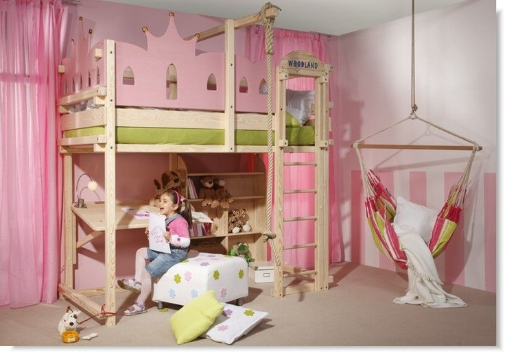 kids bed girls princess lilly lit ch teau princesse woodland meubles pour enfants. Black Bedroom Furniture Sets. Home Design Ideas