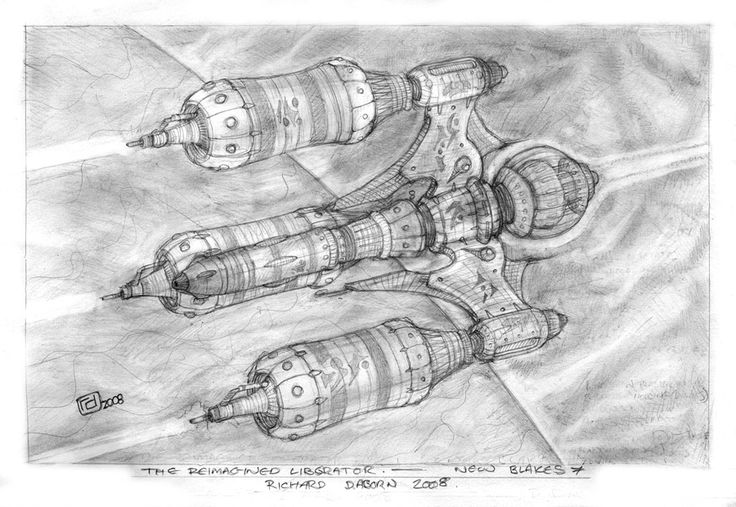 Re-Imagined Liberator starship by ~Richard-Daborn on deviantART | Blake's 7