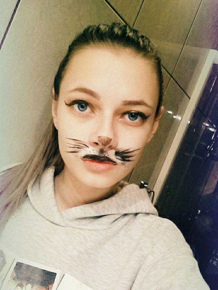 I just painted my face to a sexy cat.I love thismiauu