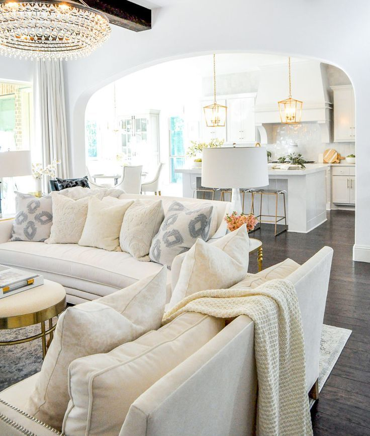 Our Bright Inviting Kitchen Reveal Decor Gold Designs Open Concept Living Room Wall Decor Living Room Modern Living Room White
