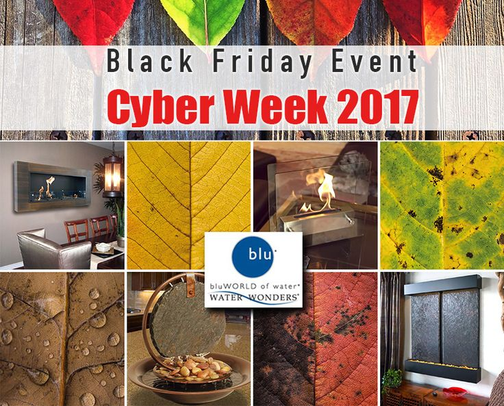 Make your homes stand out with BluWorld modern indoor fountains and water furniture - Now ON SALE! #indoorfountain #fountainlove #cyberweeksale #blackfriday