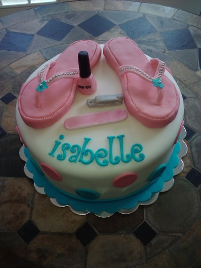 flip flop pedicure party cake By JReynolds on CakeCentral.com