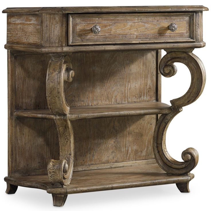 solana leg nightstand with 2 shelves and outlet by hooker furniture - Hooker Furniture Outlet