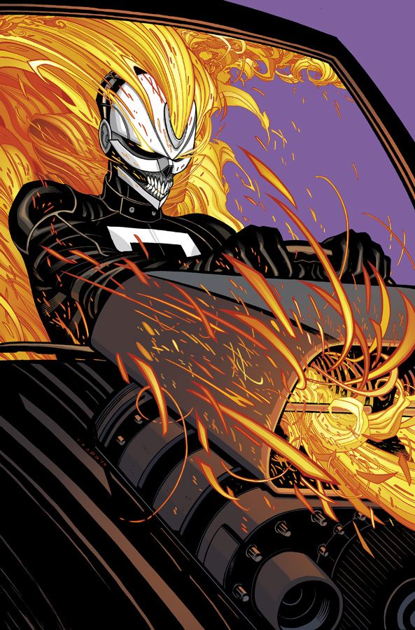 All-New Ghost Rider #2 Cover COLOR by Tradd.deviantart.com on @deviantART