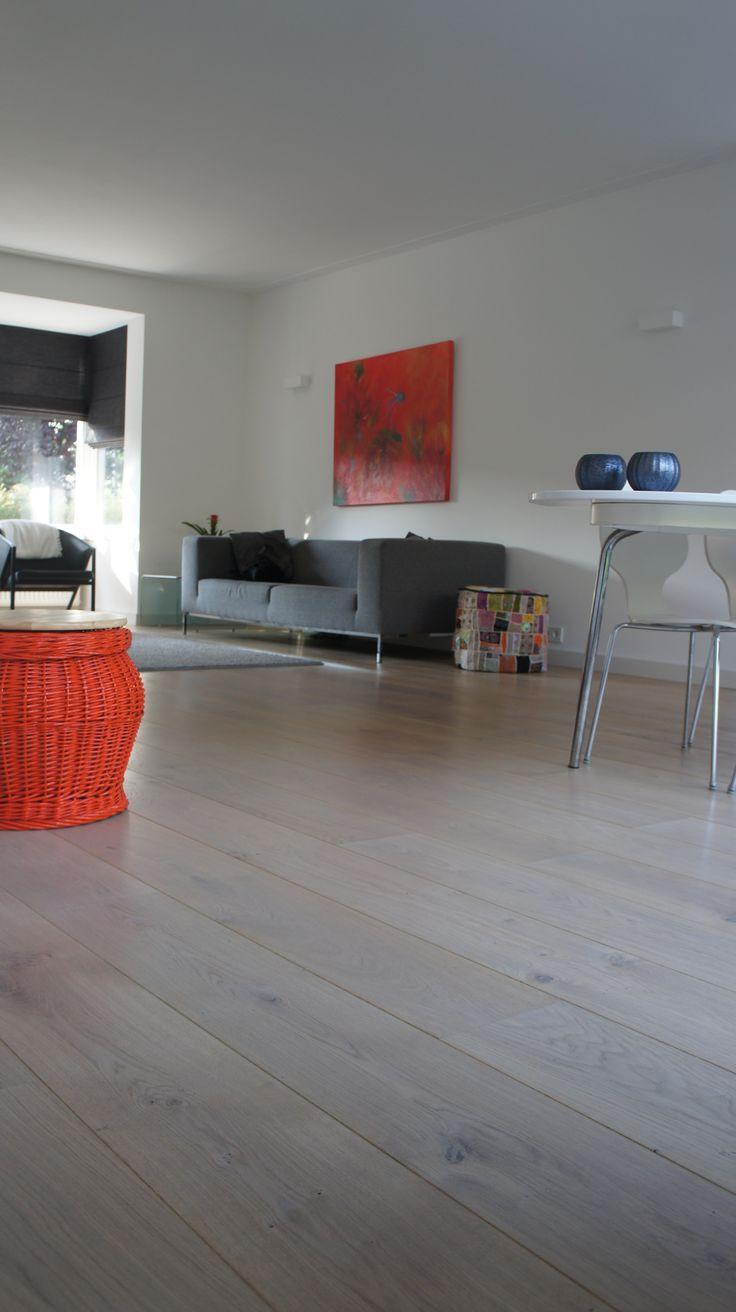 MoreFloors huiskamer vloer Eiken licht gerookt + wit geolied