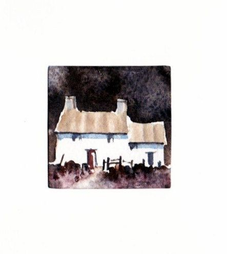 Hand Painted Card - Welsh cottage a6 by WendyPowellJonesArt on Etsy