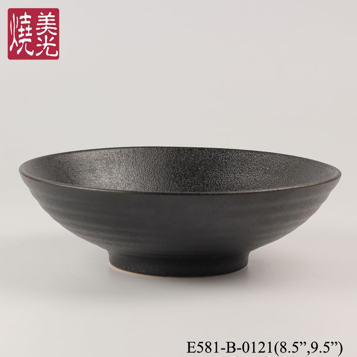 Asian restaurant ceramic dinnerware&stoneware noodle bowl E581-B-0121 Size: diameter 6 inch ,8.5 inch and 9.5 inch