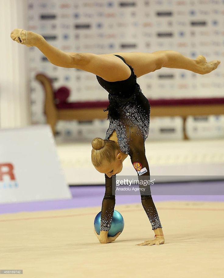 Yana Kudryavtseva of Russia competes during the 33rd Rhythmic Gymnastics World Championships in Izmir, Turkey on September 26, 2014.
