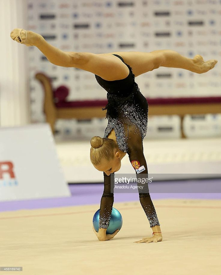 Yana Kudryavtseva of Russia competes during the 33rd Rhythmic Gymnastics World Championships in Izmir, Turkey on September 26, 2014.