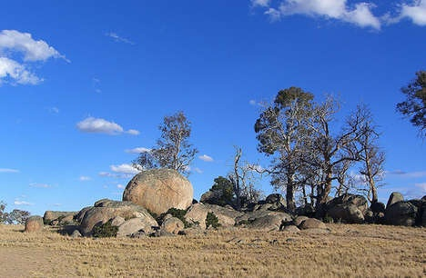 Boulders between Cooma and Jindabyne, NSW